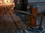 В центре Мурманска расстреляли машину и взломали шлагбаум
