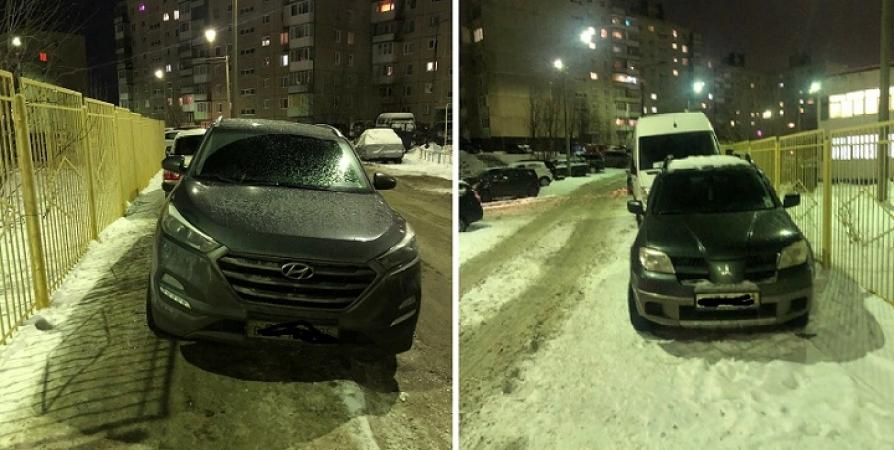 Мурманчане возмутились парковкой авто возле детсада на Орликовой