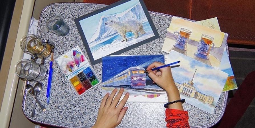 Московская художница выпустила книгу о своем путешествии в Заполярье