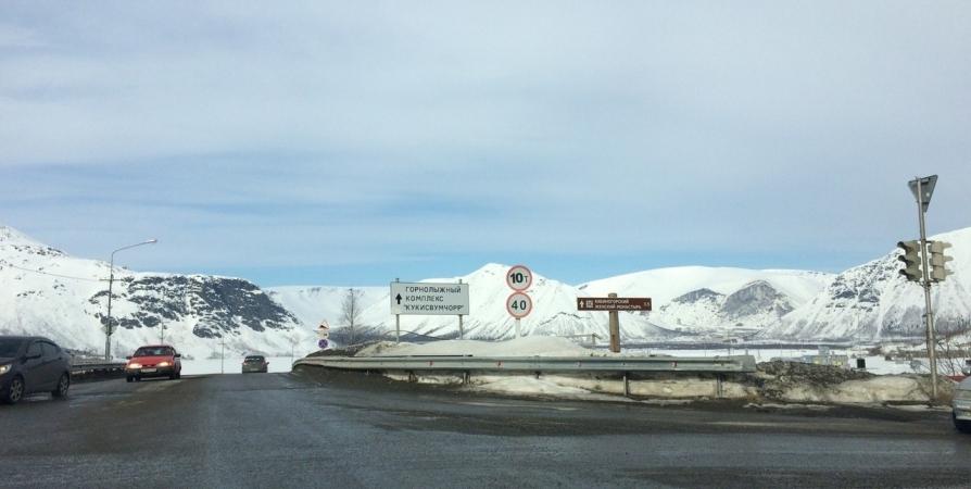 В Хибинах на горе Юкспорр днем спустят лавины