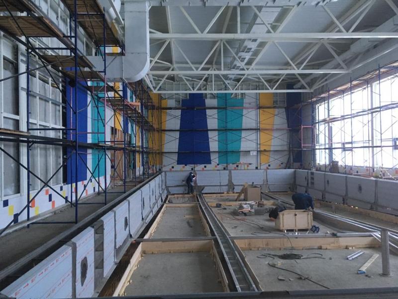 Основные работы по спорткомплексу с бассейном в Коле завершат к 15 марта