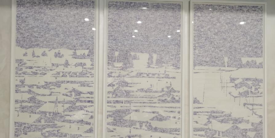 «Хибины» получили от Малахова картину Щигалева из штампов аэропортов