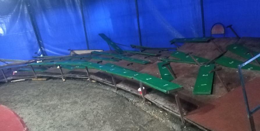 На представлении цирка в Кировске под зрителями рухнули скамейки