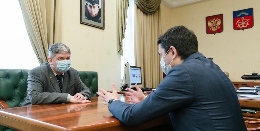 Губернатор обсудил электронное голосование с руководителем мурманского отделения КПРФ