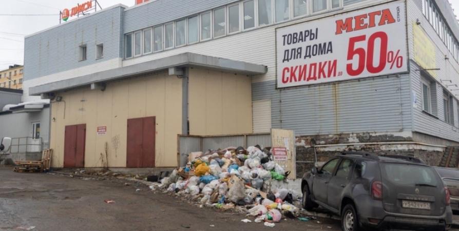 В Мурманске разберутся со свалками мусора возле торговых сетей