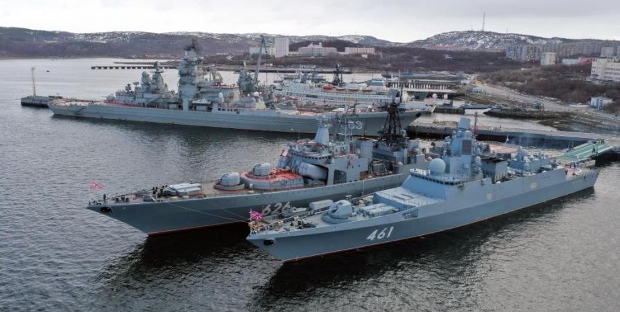 В Североморске военные корабли дадут «Гудок Победы»