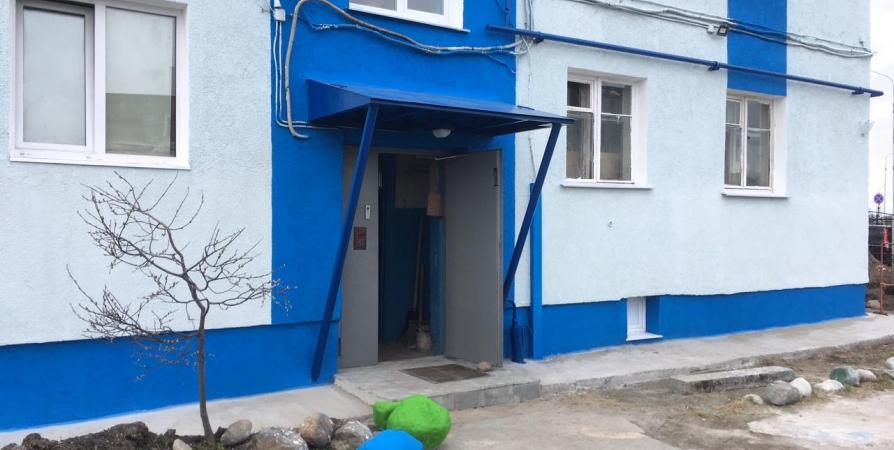 В Североморске сдали первый отремонтированный дом по технологии «мокрый» фасад